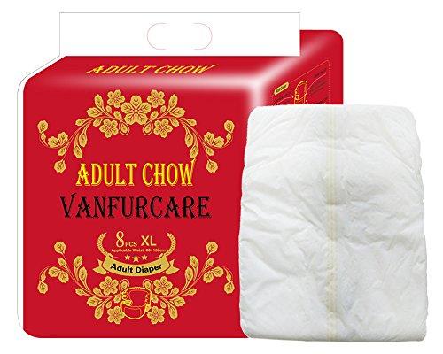 VANFURCARE - Pañales para adultos (talla XL, cintura de 80 a 160 cm)
