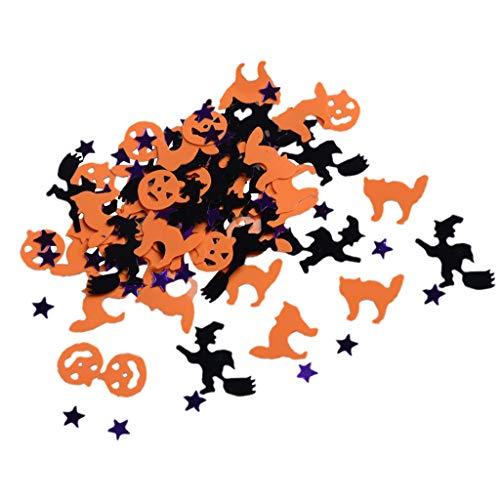 LOVIVER 30g / Beutel Halloween Tisch Konfetti Hexe Kürbis Stern