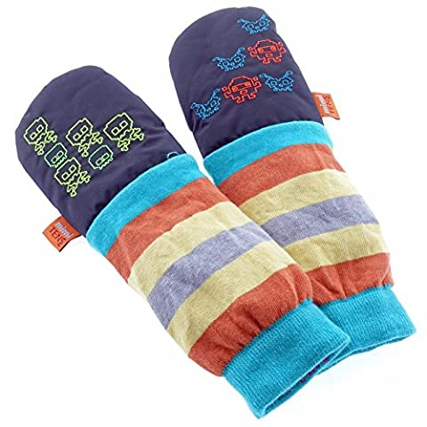 mimiTENS All Weather Long Sleeve Warm Winter Mittens (Size 3-4, Black)