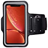 CoverKingz Armtasche geeignet für Apple iPhone XR Sportarmband mit Schlüsselfach, Laufarmband Sport Armband, Handy Armband Schwarz