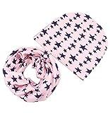 Boomly Baby Niedlich Beanie Hüte + Loop Schals Set Winter Baumwoll Beanie Mütze Halstuch Nackenwärmer Für 0-8 Jahre alte Kinder Winter Herbst (Rosa #2)