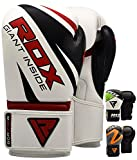 RDX Boxing Gloves Maya Hide Leather Punch Bag Mitts Sparring Punching Training Kickboxing
