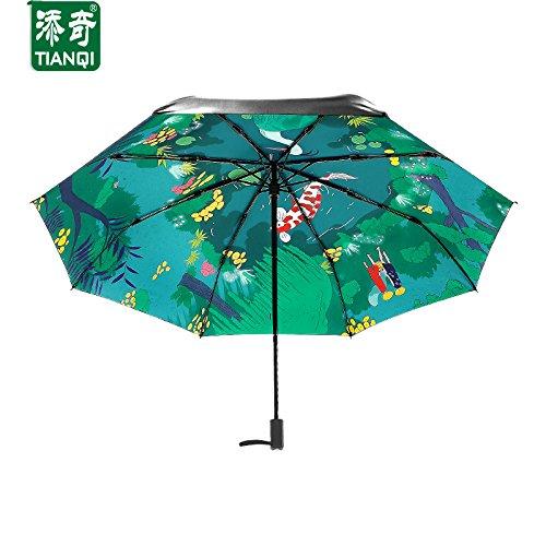 Kreativ Karpfen Anti-UV Compact Falten Prämie Legierung 8 Rippen Verstärkt Windundurchlässig Rahmen Wasserdicht Reise Golf Sonnenschirm