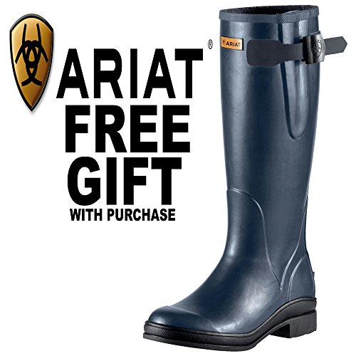 51YcHxtunYL BEST BUY UK #1Ariat Mudbuster Womens Wellington/Riding Boots   Navy Blue *FREE GIFT*: Adults 5 price Reviews uk