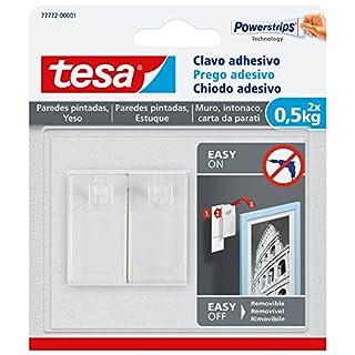 TESA 77772-00001-00 Clavo Adhesivo para Paredes Pintadas Y Yeso 0,5 Kg, Blanco, Set de 2 Piezas (B01MCQDMUI)   Amazon Products