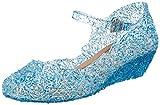 Katara ES10 - Frozen Eiskönigin Prinzessin Elsa, Cinderella Schuhe Kinder Kostüm, Prinzessinenkleid, Blau , 35
