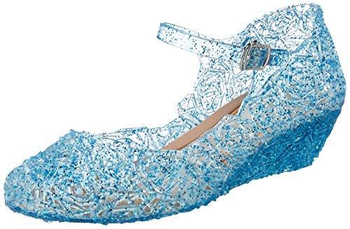Frozen Eiskönigin Prinzessin Elsa, Cinderella Schuhe, Blau, 33 EU (CN 35) ()