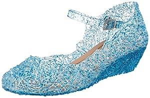 Katara- Zapatos con Cuña Disfraz Princesa Elsa Frozen Niña, Color azul, EU 33 (Tamaño del fabricante: 35) (ES10)