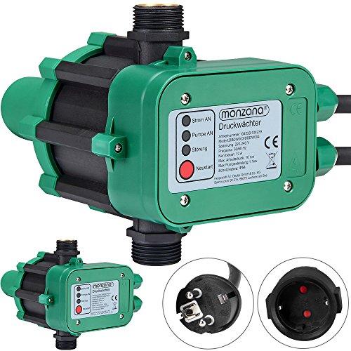 Monzana ® Druckwächter Druckschalter Pumpensteuerung Hauswasserwerk Gartenbewässerung ohne Kabel 10bar