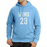 Kapuzenpullover Bronx 23 - Street Style Mode (Large Blau Weiß)