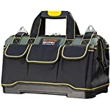 Tool Bag 16inch with PVC Base Tool Storage Bag Multi-Functional Large Capacity Waterproof Tool Tote Bag for Electricians Carp