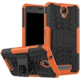 Funda ZTE Blade L5 / L5 Plus, ALINYEE 2 in 1 PC + TPU Hybrid Doble Capa 360 ° Protección Completa Stand Funda Armor Carcasa Case Cover para ZTE Blade L5 / L5 Plus [Soporte Plegable, Shock-Absorción]-Orange