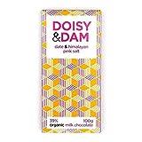 Doisy & Dam D & D Data E Dell'Himalaya Sale Rosa 39% Di Cioccolato Al Latte 100g (Confezione da 2)