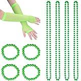 BESTOYARD St. Patrick's Day Dress Up Set Perlenketten Armbänder Handschuhe Irish Kostüm Zubehör Erwachsene