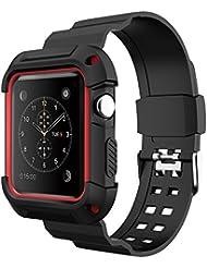 [Neue Version] Apple Watch Armband 42mm,Simpeak Schutzhülle mit Elastischen Strap Band für iWatch 42mm