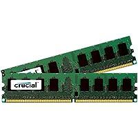 Crucial Memoria Interna Kit di 2x1 GB (2 GB), DDR, SDRAM, 400 MHz
