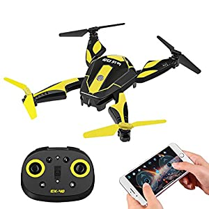 Cheerson CX-40 RC Drone with Camera for Kids Adult Beginner, 2.4G 6 Axis Foldable RC Quadcopter Wifi FPV Drone 0.3MP Headless Mode, Flips & Rolls Remote Control One Key Start (Battey Included),Frog