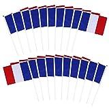 Drapeau France Drapeaux À Agiter drapeau français en plastique à main, drapeau à agiter Décoration de fête Bannière manifestations, conférences, événements sportifs