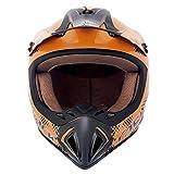 Fastrack Motocross Helmet (Men's, Orange, L)