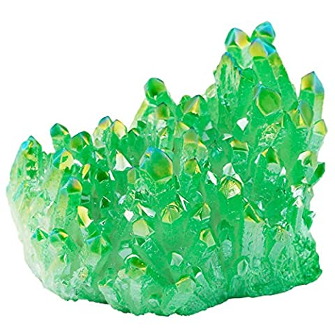 Shanxing Green Titanium Coated Crystal Cluster Specimen,Healing Reiki Energy Natural Gemstone Figurine Home Decor 1