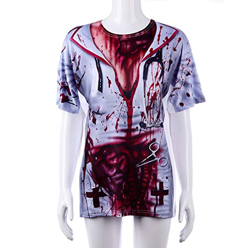 WYPANCWalking Dead Halloween Horror Zombie Krankenschwester - Weibliche Dead Clown Kostüm
