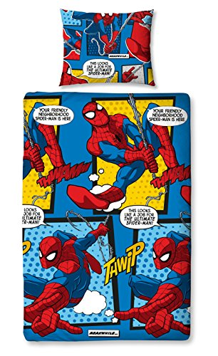 Marvel Ultimate Spiderman 'Webhead' Single Duvet Set – Repeat Print Design