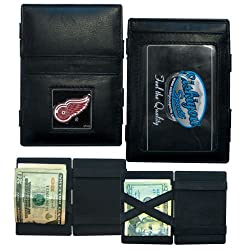 NHL Detroit Red Wings Leather Jacob's Ladder Wallet