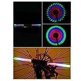 Lmeno Super Bright 64 Duplex LED USB aufladbare Fahrrad Speichenlicht Speichenreflektor Fahrrad sprach Lichter Signallichter Wasserdichte Bunte DIY 30-Muster Radfahren Rad Gummireifen Speiche Flash Light Steel Wire Felge Lampen Fahrrad Zubehör