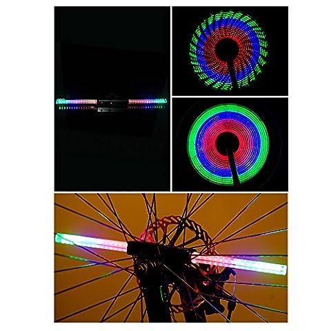 Lmeno Super Bright 64 Duplex LED Fahrrad Speichenlicht Speichenreflektor Fahrrad