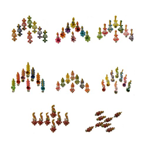 Preisvergleich Produktbild Bindis 8 Kärtchen Stirnschmuck selbstklebend Bollywood Schmuck