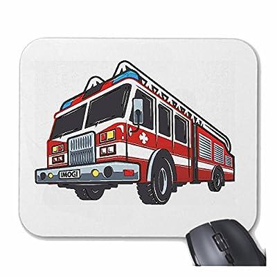 """Tapis de souris Mousepad (Mauspad) """"AMERICAN POMPIER UTILISATION DE LA VOITURE VÉHICULE FIRE TRUCK POMPIER Fire Company VOLONTAIRE POMPIER FFW INSERT HEAD PROFESSIONNEL FIRE STATION D' INCENDIE"""" pour votre ordinateur portable, ordinateur portable ou PC In"""