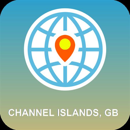 Channel Islands, GB Karte - Channel Islands Gps