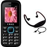I KALL K55 Blue Dual Sim Mobile With Neckband