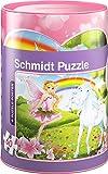 Schmidt Spiele 56915 Einhorn Puzzles in Spardose, 60 Teile