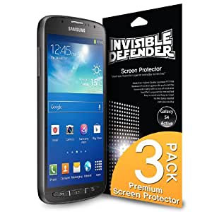 Galaxy S4 Active Screen Protector - Invisible Defender [3 Films / MAX HD CLARITY] High Definition (HD) Clear Perfect Touch Precision Film with Lifetime Warranty for Samsung Galaxy S4 Active
