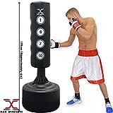 Maxstrengh Sac de frappe de boxe sur pied 1,83 m –Sac de frappe d'excellente qualité et résistant, équipement pour boxe, kick boxing, arts martiaux, MMA