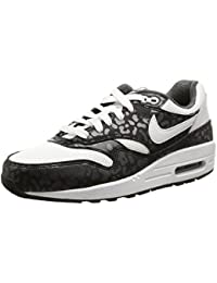 Nike - Air Max 1 Print (Gs) - , homme, multicolore (white/white-black-anthracite), taille