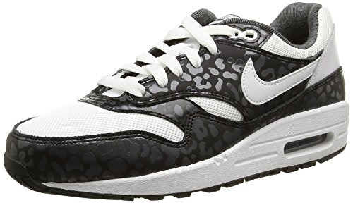 Nike Herren, , air max 1 print (gs), mehrfarbig (white/white-black-anthracite) mehrfarbig (White/White-Black-Anthracite)