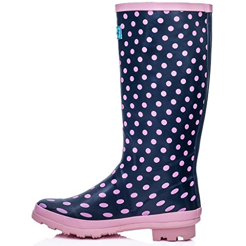de Mulheres rosa Alto Chuva Botas De De Botas Spylovebuy Fixas Planas Cano Borracha Ponto De UxaprOUwq