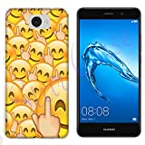 Hülle Y7 Nova Case Huawei Y7 Nova Whatsapp Emoticon Fuck Smiley/Cover Druck Auch an Den Seiten/Anti-Rutsch Anti-Rutsch Anti-Scratch Schock-resistenten Schutz Schutzulle Starre