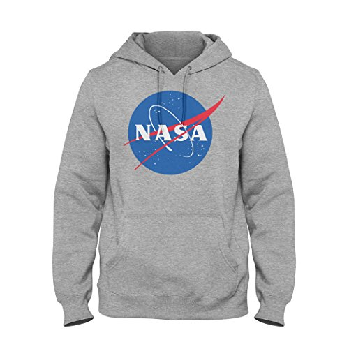 Classic Space Nasa Logo Unisex Pullover Hoodie S (Classic Long Tee Logo Sleeve)