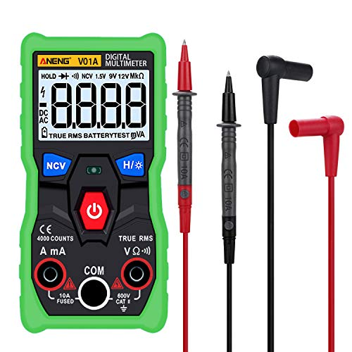 DyNamic Aneng V01A Digital True Rms Multímetro Tester Autoranging Automotriz Multímetro Con Ncv Datos Hold Lcd Retroiluminación + Linterna Color Verde