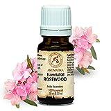 Rosenholzöl 10 ml, 100 % naturreines ätherisches Öl, Reine & Natürliche Rosenholz Öl - Aniba rosaeodora, Peru, besten für Beauty - Stressabbau -Aromatherapie - Aroma diffuser - Aroma - Raumduft, Rosewood oil von AROMATIKA