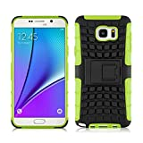 [ Samsung Galaxy Note 5 ] - Carcasa Alligator JAMMYLIZARD Militar Heavy Duty Case De Alta Resistencia, VERDE LIMA