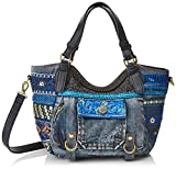 Desigual Bols_rotterdam Mini Ext.exotic. 5006. U, Women's , Blue (Navy), 11.5x18.5x...