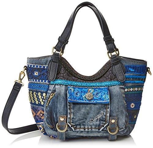 Desigual Damen Bols_rotterdam Mini Ext.Exotic. 5006. U Umhängetasche, Blau (Navy), 11.5x18.5x18 cm (Schuhe Casual Tragen Jeans)