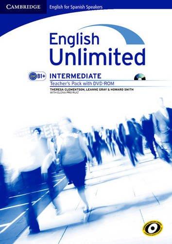 English unlimited for spanish speakers intermediate teacher's pack (teacher's book with dvd-rom) (Edición para España)