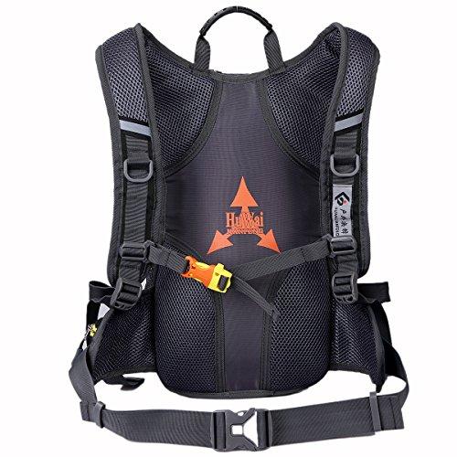 SHTH 15L Wasserdicht Fahrrad Schulter Rucksack Wasser Reisetasche Ultralight für Radsport Outdoor Reiten Bergsteigen Hydration Schwarz