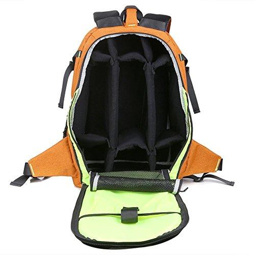 Wasserdicht Kamera Taschen Outdoor Rucksack Reisen Rucksack Rucksack für 43,2cm Laptop Orange