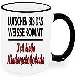 Lustige Sprüche Tasse Schwarz / Weiss * Kinderschokolade * Wählen Sie aus 42 Tassen. Nur Orignal von Druck-deine-Tasse.